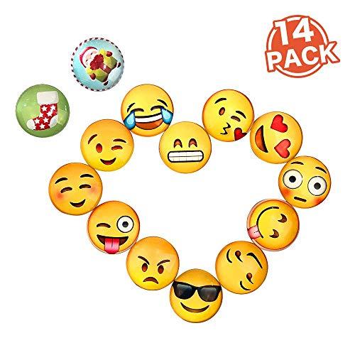BelleJoomu 14 Stücke Emoji Magnete Für Magnettafel Kühlschrankmagnete Starke Magnete Kinder Magnete Niedliches Piktogramm Durchmesser 30mm (Kühlschrank-magnete Emoji)