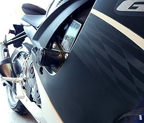 Shogun Motorsports 710-5459 NO CUT Carbon S5 Frame Sliders Suzuki GSXR600 (11-15) GSXR750 (11-15) by Shogun Motorsports