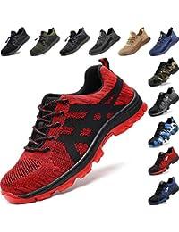 Zapatos de Seguridad Hombre con Punta de Acero, Cómodas Ultraligero & Transpirables, 36-48