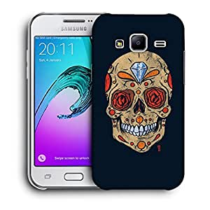 Snoogg Diamond Skull Designer Protective Back Case Cover For SAMSUNG GALAXY J2