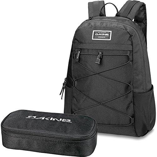 DAKINE 2er SET Rucksack Schulrucksack Laptop WONDER 22l + SCHOOL CASE Mäppchen Black