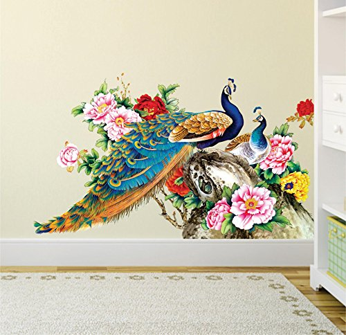 Decals Design Wall Sticker For Living Room Peacock