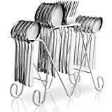 POG 24pcs Anthem Stainless Steel Cutlery Set For Dining Table With Stand