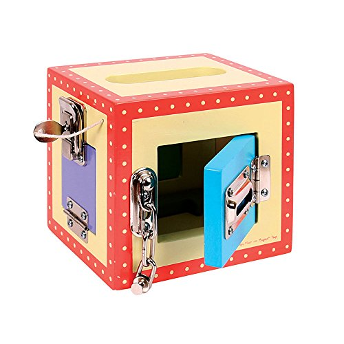 Bigjigs Toys Wooden Lock Box – Children's Concentration Activity Toy