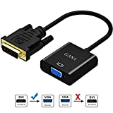 DVI auf VGA Adapter,GANA 1080P Active DVI-D zu VGA Adapter Konverter 24 + 1 Male to Female DVI to VGA Adapterkabel unterstützen 60 Hz 3D für DVI Systemen,Displays,HDTV und Beamer