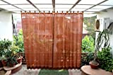 #5: HIPPO Outdoor Curtains - Brown Colour - Full Size (2 Nos. x 4.0 Ft W x 7.5 Ft L)