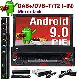 Android 9.0 Autoradio Single Din 7' in touch screen navigazione GPS In-dash lettore DVD controllo del volante 1 DIN autoradio FM/AM Bluetooth AUX/FM/USB/SD/MP3/MP4