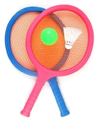 Badminton-Set für Kinder, mit 2 Schlägern, Ball und Birdie