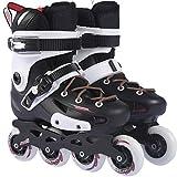DSFGHE Skates Einzelne Reihe College-Studenten Anfänger Erwachsene Schlittschuhe Erwachsenen Slalom Jungen und Mädchen Im Freien Aktivitäten Wahl,White-43