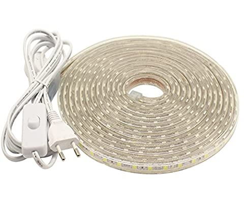 5m LED Strip Schlauch 40 Watt warmweiß wasserresistent mit manuellen