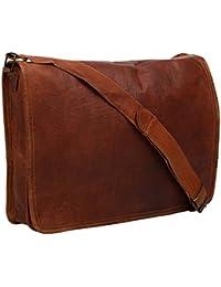 Vintage Handmade 13 Inch Leather Satchel Messenger Bag For Boy/girl/man/woman/unisex - B078ZYFK2R