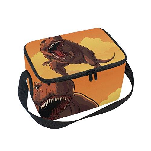 Kostüm Reise Spiel Figur - Tyrannosaurus Rex Dinosaurier-Muster, isolierte Lunchtasche, Kühltasche, wiederverwendbar, für Outdoor-Reisen, Picknick-Taschen