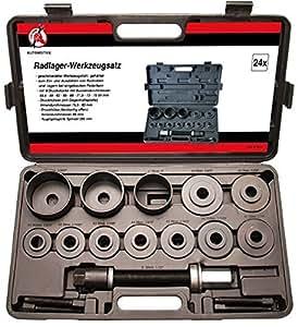 Kraftmann 67310 Jeu d'outils pour roulement de roue, Noir, Set de 21 Pièces