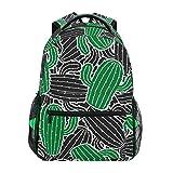 Ahomy Schulrucksack Buchtasche für Teenager Mädchen Jungen, Tropische Sommerpflanzen Kakteen Reiserucksack Tasche Wandertasche für Damen Herren