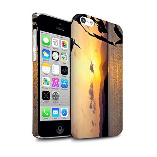 STUFF4 Matte Snap-On Hülle / Case für Apple iPhone 5C / Tropische Bäume Muster / Sonnenuntergang Kollektion Gebirge
