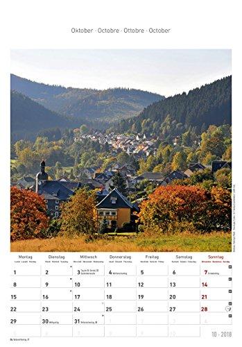 Thüringen 2018 - Bildkalender (24 x 34) - Landschaftskalender - 12