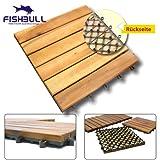 FISHBULL Qualitätswerkzeuge Akazien Holzfliese 30x30x2,4cm geölt Terrassenfliese Terrassen Holz Bodenfliese