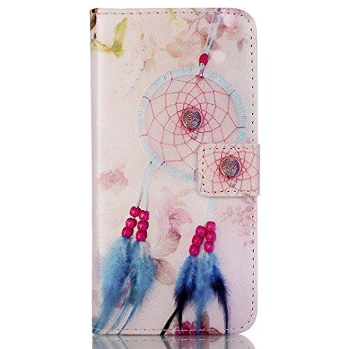 iPhone SE/5/5S Hülle im Bookstyle, Xf-fly® PU Leder Flip Wallet Case Schutzhülle für Apple iPhone SE/5/5S (4.0 Zoll) Tasche Handytasche mit Magnetverschluss Kartenfach Standfunktion Muster Handyhülle P-7