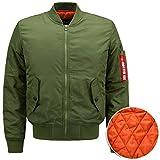 2017 Classics Bomberjacke Light Bomber Jacket,leichte Jacke und Gesteppte Mantel für Herren, Übergangsjacke für Herbst und Winter/Größe XS-4XL