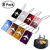 Pixnor Metal Travel Luggage Baggage Labels Suitcase ID Tags Labels, 8 Piece