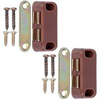 2 cierres magnéticos pequeños para puerta, 40 mm, para armario/armario