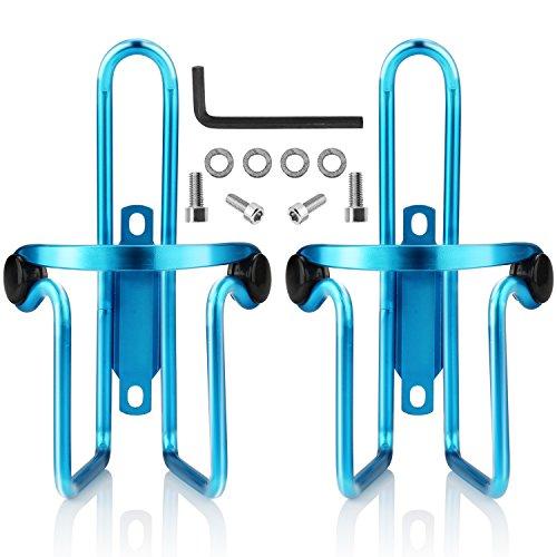 iBuger Fahrrad Flaschenhalter, 2er-Set Trinkflaschenhalter Fahrrad Wasser Flasche Käfig Halter Rack-Blau -