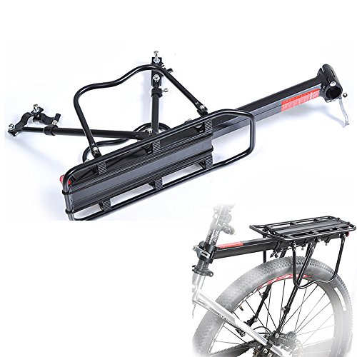 Sand's Clover Aluminium Fahrrad Gepäckträger Cargo Rack, verstellbar Bike Rear Rack Carry Carrier Halter seat-post Mount frame-mounted für schwerere Top & Side Lasten -