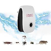 LZHOO Ultrasónico de Aparato Antiinsectos,Repelente de Mosquitos Electrónico, Electrónico de Control de Plagas para roedores, Mosquitos tropical, Cucarachas, Roedores, Moscas, Hormigas, Arañas, Ratones