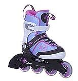 K2 Mädchen Inline Skates Cadence Mehrfarbig - ABEC 3 Kugellager Softboot - Größe Verstellbar 32-37- Kinder Inlineskates Anfänger