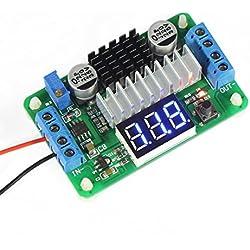 Droking LTC187 DC Boost Converter 3.5-30V 100W Alimentation Régulateur de tension 5V / 12V Step Up Module Volt avec voltmètre Input / Alternate de sortie Affichage LED pour la voiture Motor Auto Moto