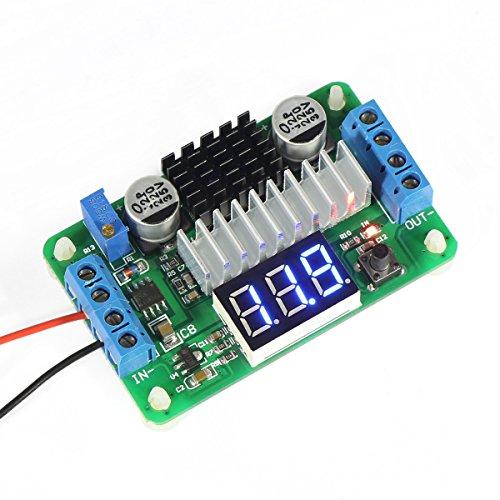 DROK® LTC187 DC convertidor del alza 3.5-30V 100W Fuente de alimentación del regulador de voltaje 5V / 12V Paso arriba un módulo voltios con un voltímetro de entrada / salida alternativo Pantalla LED para el coche de motor de automóvil de la motocicleta,