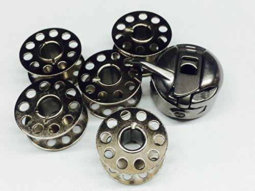 Koolkids Sewing Hohe Qualität Spulenkapsel für Nähmaschine mit 5Spulen, Vintage Maschinen Singer, Janome, Toyota, pafaff, Brother. Fast & frei Porto