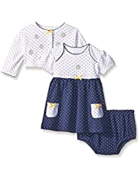 Little Me Baby Girls' Knit Dress with Cardigan