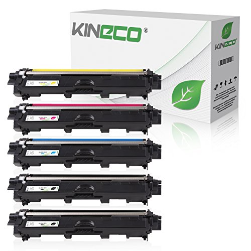 5 Toner kompatibel zu Brother TN-241 TN-245 für Brother MFC-9142CDN, Brother DCP-9022CDW, MFC-9342CDW, MFC-9332CDW, HL-3150CDW, HL-3170CDW - TN-241BK TN-245C TN-245M TN-245Y - Schwarz je 2.500 Seiten, Color je 2.200 Seiten Test