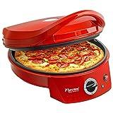 Bestron elektrisk grill-pizzaugn, Viva Italia, topp / bottenvärme, upp till max. 180 ° C, 1800 watt, röd