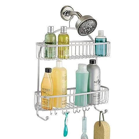mDesign Duschablage zum Hängen - praktisches Duschregal