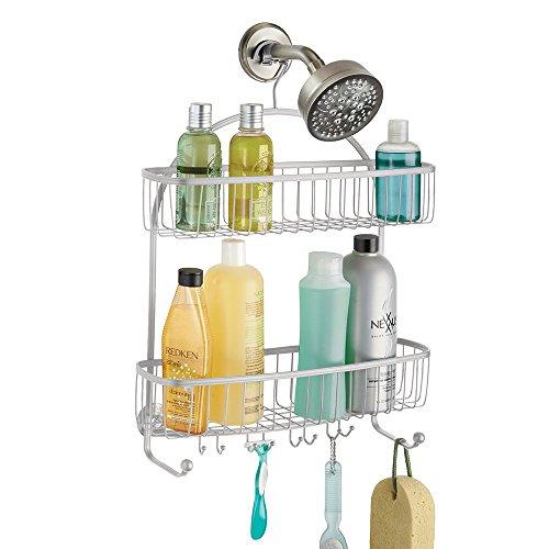 mDesign Duschablage zum Hängen - praktisches Duschregal - ohne Bohren zu montieren - Duschkörbe zum Hängen aus Metall - für sämtliches Duschzubehör (Shampooflaschen, Rasierer etc.)