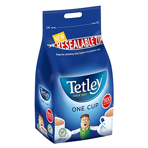 Tetley 1100 One Cup Tea Bags 2.5kg (Pack of 2 x 1100s)