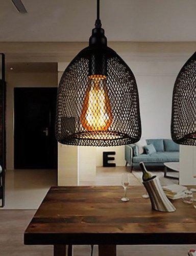 Illuminazione jiaily American Paese in stile retrò industriale Testa singola lampada Bar Cafe Bar Ristorante metallo Creative Net lampadario , 220-240v-nero