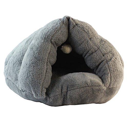 GoldBearUK Plüsch grau Zelt Stil Luxus Katzenhöhle/Hundebett