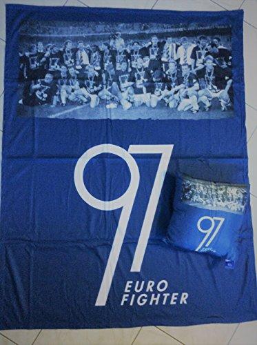FC Schalke 04 Fleece-Decke und Kissen Eurofighter 97 - Acryl-marines Decke