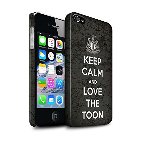Offiziell Newcastle United FC Hülle / Matte Snap-On Case für Apple iPhone 4/4S / Pack 7pcs Muster / NUFC Keep Calm Kollektion Liebe Toon
