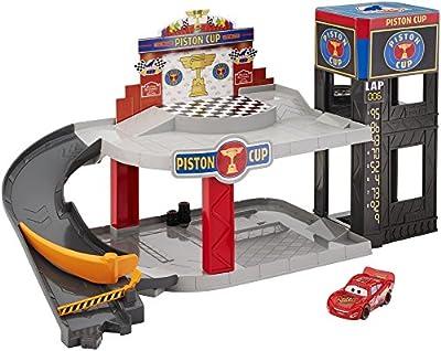 Mattel Disney Cars DWB90 - Piston Cup Rennbahn-Parkhaus Spielset von Mattel GmbH