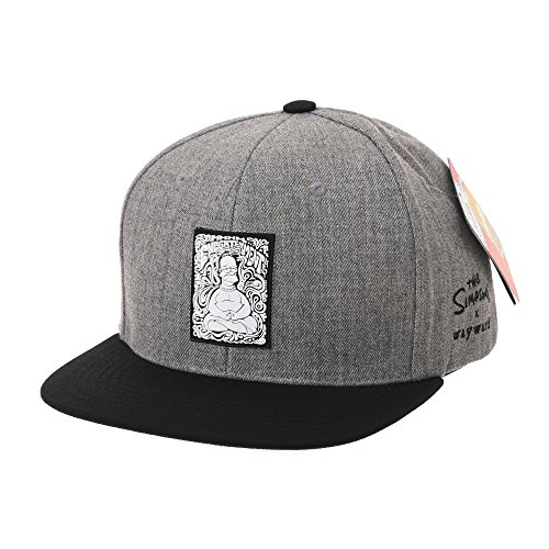WITHMOONS Cappellini da baseball Cappello The Simpsons Baseball Cap Buddha  Simpson Snapback Hat HL2756 (Grey 2d264580fc37