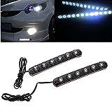 BoomBoost 2PCS 6 LED Luz diurna del coche Eagle-eye lámparas de niebla coche impermeable flexible...