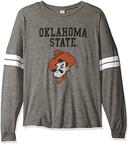 NCAA Oklahoma State Cowboys Betty Long Sleeve Tri-Blend Football Jersey T-Shirt, X-Large, Tri