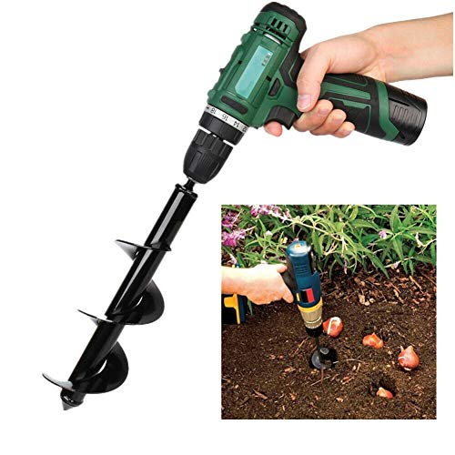 Dragon Honor 8'' 12'' Earth Auger Drill Bit Replacement Electric Garden Planting Auger Spiral (Diameter: 30cm, length: 8cm)