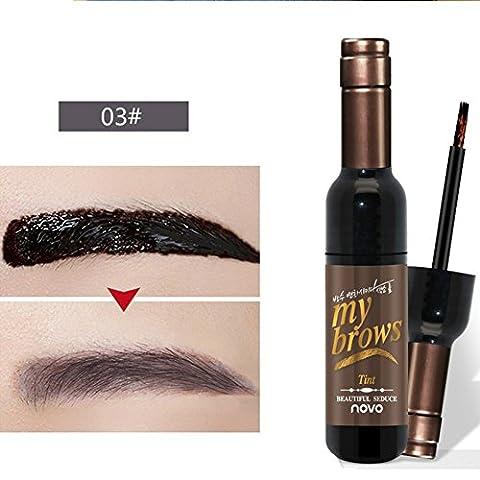 Hanyia Weinflasche Form Augenbraue Gel Peel Off Tattoo Tönt Dye Creme Natürlich Langlebig Wasserdicht (Augenbraue-formen Stencils)