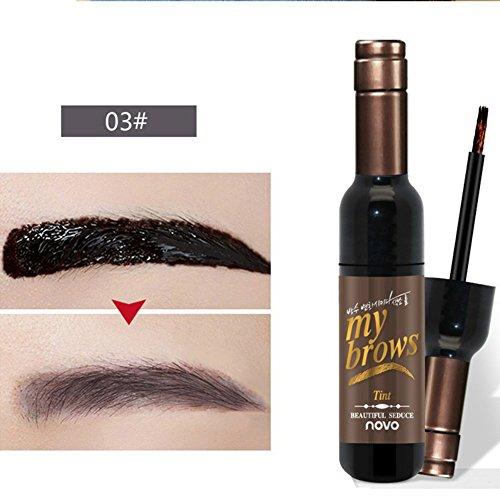 Oyalaiy Wine Bottle Eyebrow Gel Matte Longue duršŠe d'šŠtanchšŠitšŠ Eyebrows Peel Off Dye Maquillage