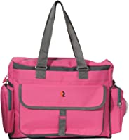 Vouch Bria Multipocket and Multipurpose Diaper Bag, Pink